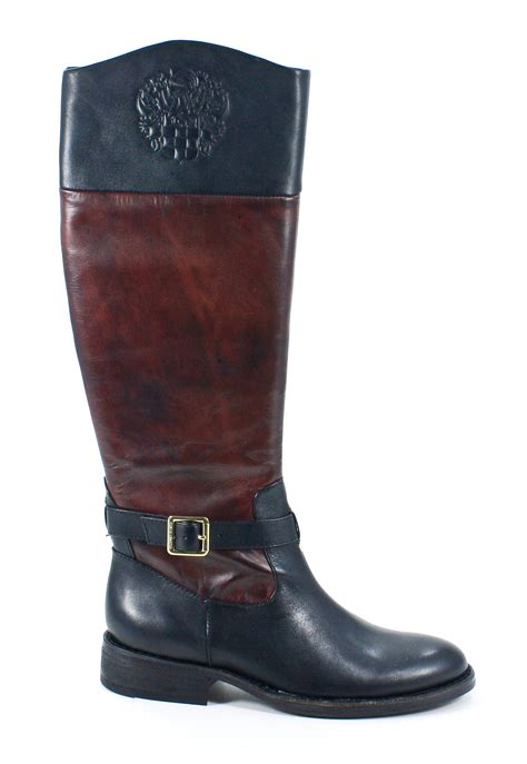 two toned boots vince camuto flavian two tone wood black leather
