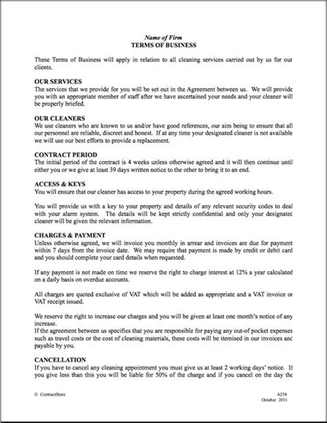 contract letter format for housekeeping best 25 cleaning contracts ideas on business cleaning services residential