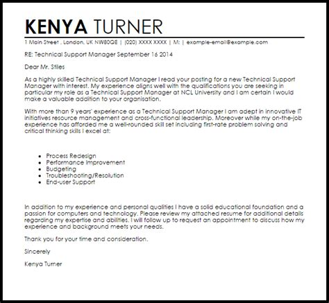 technical support cover letters military bralicious co