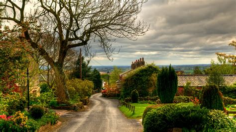 free wallpaper village wallpaper english village view road through quaint