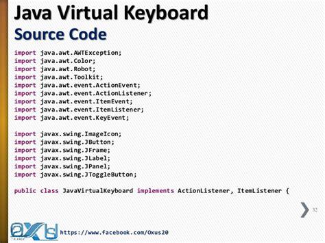 java swing code java virtual keyboard using robot toolkit and