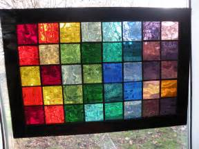 colored window colorful stained glass panel with rainbow of colors black