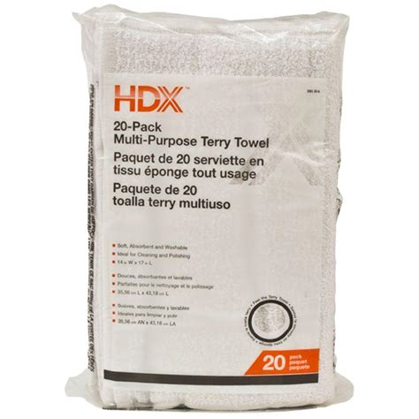 home depot paint rags hdx 14 in x 17 in 2 in 1 14 cs paint towels 12 pack t