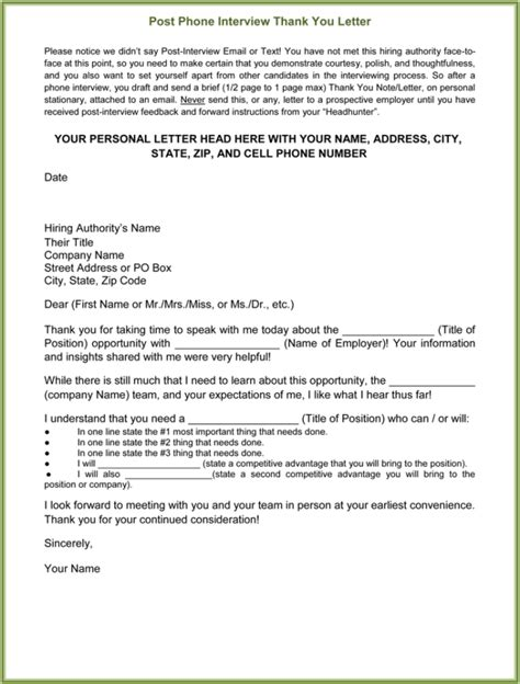 follow up email after phone interview template luxury thank you for