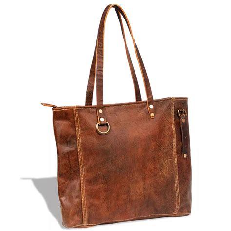 Bag Brown 1 real leather shopper bag brown vidaxl co uk