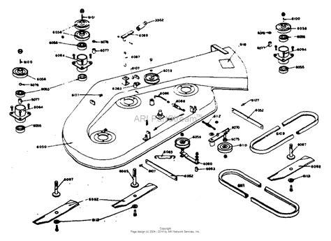 dixon mower parts diagram dixon ztr 1 1974 parts diagram for mower deck assembly