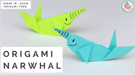 How To Make An Origami Narwhal - paper crafts origami whale paper narwhal tutorial