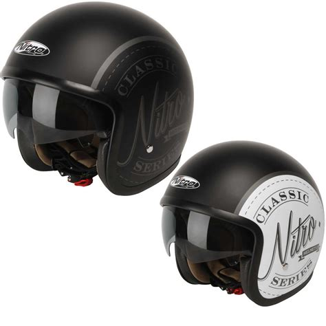 Sticker Helmet Full Face by Nitro X581 Decal Classic Open Face Sun Shield Scooter Mod