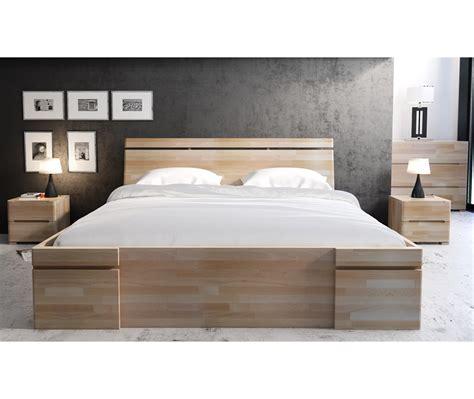 letto a con cassetti letto in legno sparta in faggio con cassetti vivere zen