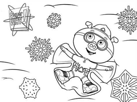 alpha pig coloring page alpha pig play snow in superwhy coloring page coloring sky
