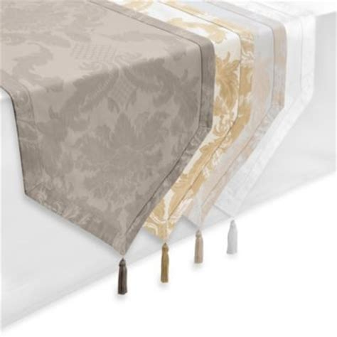 bed bath and beyond table linens waterford 174 linens damascus 90 inch table runner