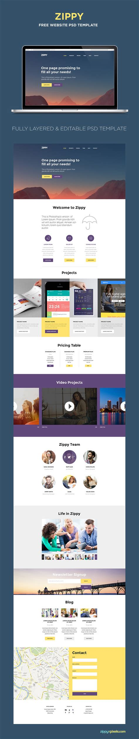 60 best single page website templates web graphic design
