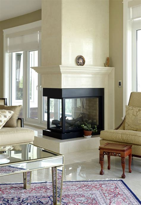 3 sided glass fireplace 17 best ideas about 3 sided fireplace on