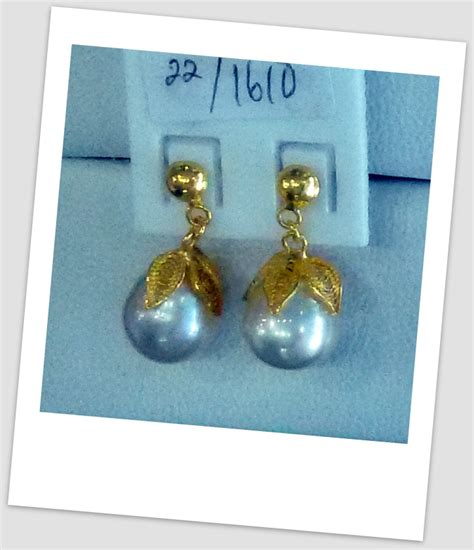 Anting Ear Ring Pearl anting mutiara emas 0037 south sea pearl necklace price pearl wholesale gold jewelry handmade