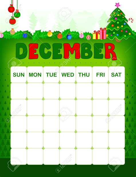 december christmas calendar template calendar 2017 printable