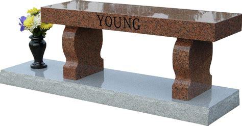 granite memorial benches maine distinction memorial benches and cremation benches