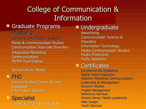 Digital Marketing Degree Florida - college of communication information degree programs