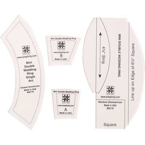 set template mini wedding ring template set jo