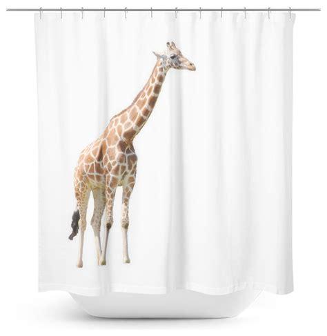 giraffe shower curtains shop houzz sylvia coomes giraffe shower curtain shower