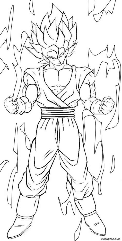 nice photograph series of goku printable coloring pages