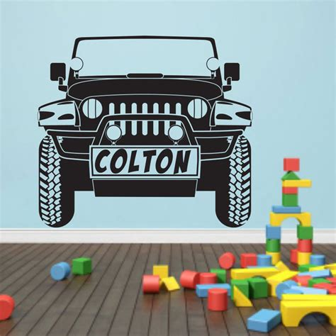 jeep wall art jeep decal wrangler wall decal decor sticker jeep wall decal