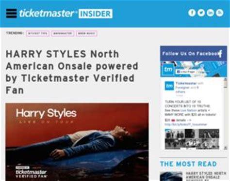 harry styles verified fan code ticketmaster harry styles north american onsale powered