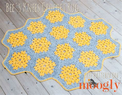 Hexagon Crochet Rug Pattern by Bee S Knees Crochet Rug Moogly