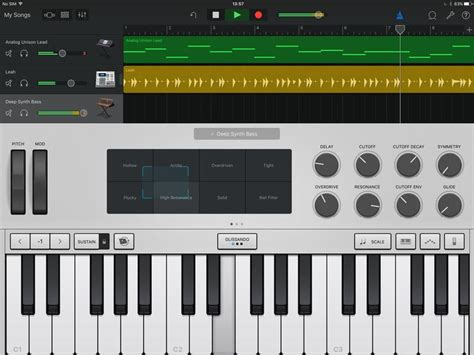 Piano Garage Band by Garageband For Iphone Review Apple Garageband For