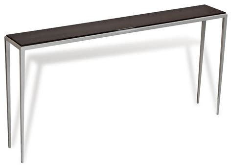 long sofa table 60 morell ebonized wood modern long sofa console table 60