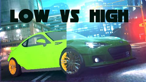No Limit Vs Limit 3 by Need For Speed No Limits 1 0 48 Low Vs High Graphics