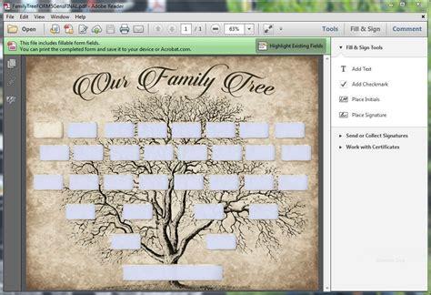 custom family tree printable  generation template instant