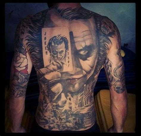 wildcard tattoo 25 best joker tattoos ideas on