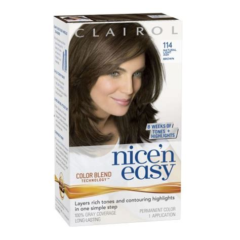 clairol light reddish brown hair dye nice39n easy permanent hair dye 6 light brown former 116