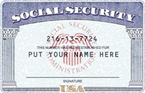 Editable Social Security Card Template by Pics For Gt Blank Social Security Card