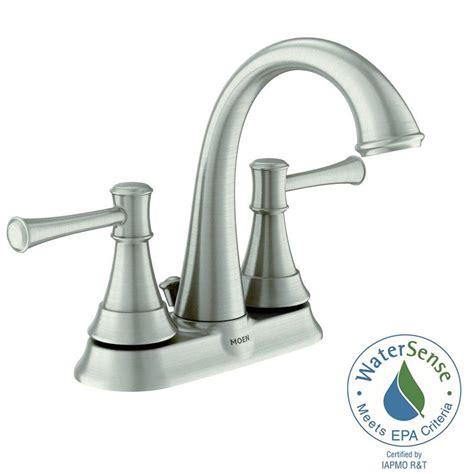 Moen Adler Bathroom Faucet by Moen Adler 4 In Centerset 2 Handle Low Arc Bathroom