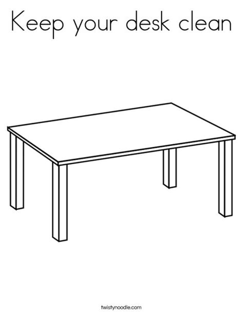 coloring page of a kitchen table keep your desk clean coloring page twisty noodle