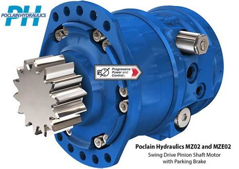 swing drive poclain hydraulics mz02 and mze02 hydraulic swing drive
