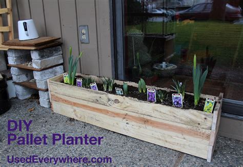 How To Make A Planter Out Of A Tire by Used Ca Pallet Planter Diy Hop To Make A Planter Out Of
