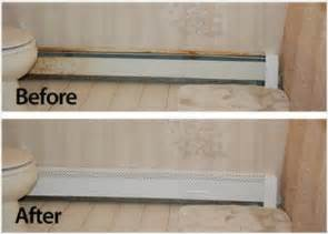 transform your rusty baseboards with baseboard covers from