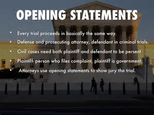 Plaintiff Opening Statement Outline by Your Day In Court By Christian Bustamante