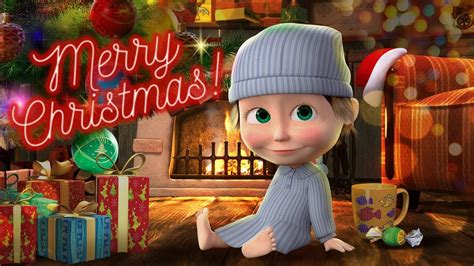 masha   bear merry christmas  happy  year youtube