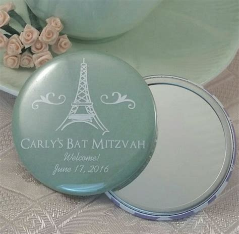 Bat Mitzvah Giveaways Personalized - personalized bat mitzvah favors custom mirrors