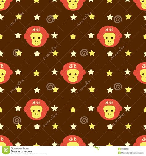 new year background monkey new year 2016 seamless pattern with monkey and