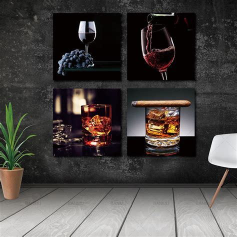 picture canvas painting wall wine  cigar canvas prints