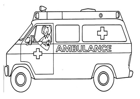 Free Coloring Pages Of Ambulance | ambulance color pages google search community helpers