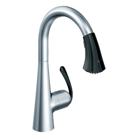 grohe kitchen faucets ladylux shop grohe ladylux stainless steel pull down kitchen faucet at lowes com