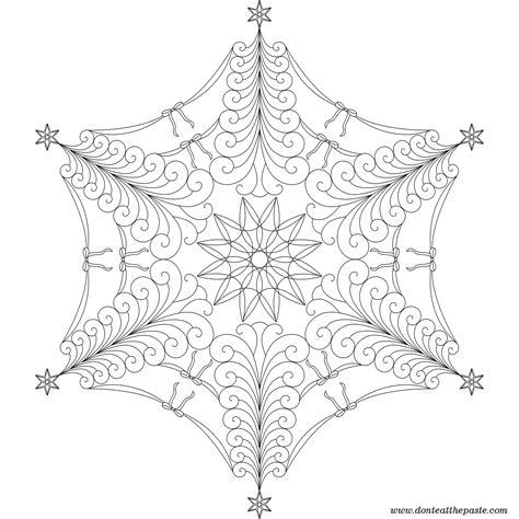 intricate snowflake coloring page don t eat the paste tree flake mandala