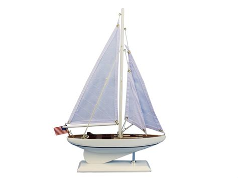 Sailboat Models For Decoration by Buy Wooden Intrepid Model Sailboat Decoration 16 Inch