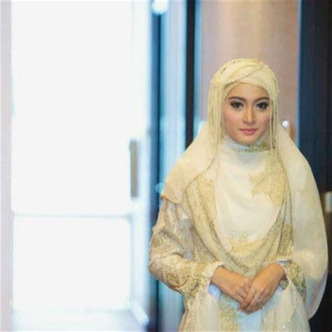 tutorial hijab syar i pengantin model hijab untuk gaun pengantin syar i