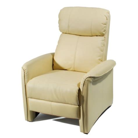 ivory leather recliner home leather soft pad recliner 3 positional leather cozy